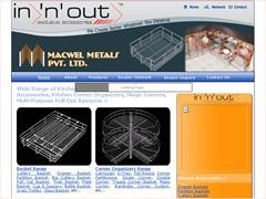 Macwel Metals, Manufacturers & Exporters of Kitchen Accessories, Wardrobe Accessories, Kitchen Baskets,  Kitchen Trolley,  Cutlery Baskets, Pullout, Grain Trolley, etc.