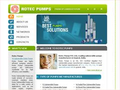 Rotec Pumps, Manufacturer of Submersible Pumps, Water Pumps, V3 Submersible Pumps, V4 Submersible Pumps, V6 Submersible Pumps, V6 SS Submersible Pumps, Stainless Steel Pumps, Openwell Pumps, 8 Submersible Pumps in Gujarat, India