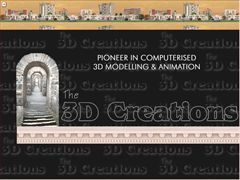 3D Creations - Pioneer in all types of 3D Modelling & Animations. 3D-design and animation, rendering, cybermotion, ray-tracing, graphics, animation, particle