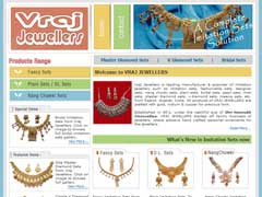 Manufacturer & exporter of imitation jewellery such as imitation sets, fashionable sets, designer sets, nang chowki sets, plain sets, bridal sets, pearl sets, moti sets, plaster diamond sets, v-diamond sets, meena sets, etc. from Rajkot, Gujarat